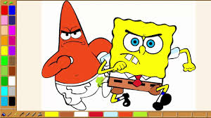 spongebob squarepants coloring how to draw and coloring pages
