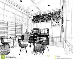 sketch design of coffee shop stock photo image 59585660