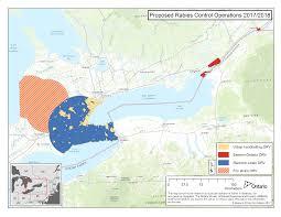 Hamilton Ontario Map Rabies In Wildlife Ontario Ca