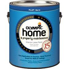shop olympic home tintable flat latex interior paint actual net
