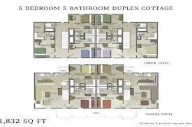 5 Bedroom Cottage House Plans Duplex House Plans 5 Bedrooms 3 Bedroom Duplex Floor Plans Duplex