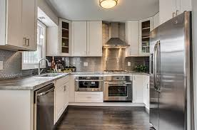 Steel Kitchen Backsplash White And Stainless Steel Kitchen Kitchen And Decor