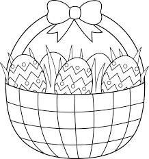 easter basket coloring pages easter basket with easter eggs and