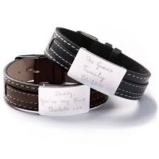 sterling silver leather bracelet images Buy personalised engraved leather bracelets for men online jpg