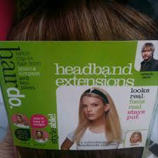 jessica simpson headband hair extensions find more brand new in box never worn strawberry blonde jessica
