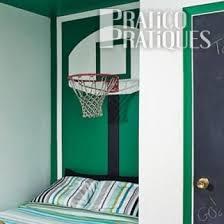 panier de basket chambre un panier de basketball en guise de tête de lit plans et patrons