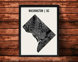 Picture Of Map Of Washington by Washington Dc Map Art Print Washington Dc Print Washington