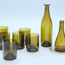 set bicchieri set harmony green 6 glasses bo 1 carafe do 1 candleholder
