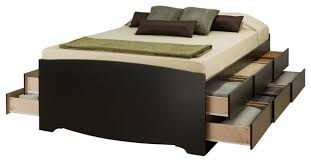 Full Double Bed Prepac Tall Full Double 12 Drawer Platform Storage Bed