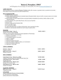 Pharmacy Resume Examples by Resume Examples For Pharmacy Technician
