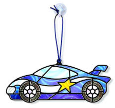 doug stained glass made easy race car ornaments craft