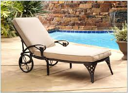 Outdoor Chaise Lounge Chairs Chaise Round Resin Wicker Outdoor Chaise Lounge With Pillows And