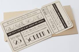 ticket wedding invitations unique cinema ticket wedding invitation with wallet vintage