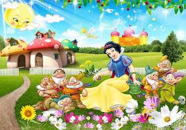 snow white cartoon photo wallpaper murals papel parede infantil