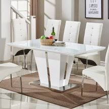 High Gloss Extending Dining Table High Gloss Dining Tables Uk Furniture In Fashion