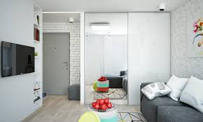 Furniture For 1 Bedroom Apartment Bright And Compact 1 Bedroom Apartment For Young Family Floor