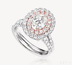 oval engagement ring with halo halo oval engagement ring with two row band in white
