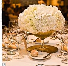 gold centerpieces gold centerpiece with hydrangea this is a great use for the gold