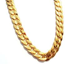 real gold chain necklace images 24k solid gold gf real two sided sequence sand cuban link chain jpg
