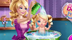 watch barbie princess baby wash game baby bathing video cute