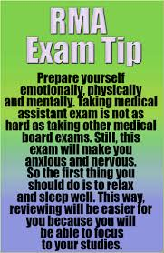 registered medical assistant rma certification exam tip prepare