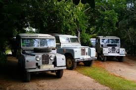 land rover jungle expedition at chichen itza driving a vintage land rover
