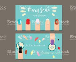 business card design template manicure salon nail studio nail