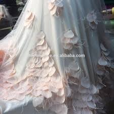 2017 wedding dress embroidered french 3d flower lace with feather