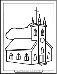 free church coloring pag art gallery coloring pages church