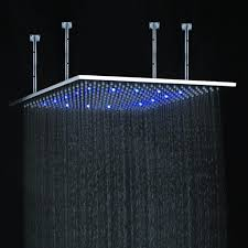 decoration ideas stunning white fixed round shower head ceiling