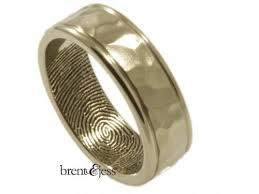 cincin tungsten carbide brent jess custom handmade fingerprint wedding rings