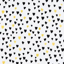 heart wrapping paper black gold hearts foil wrapping paper the container store