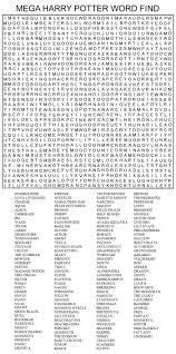 hard printable word searches for adults mega harry potter word