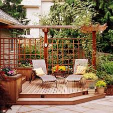 Privacy Walls For Patios by Patio Privacy Ideas Pergolas Sunlight And Patios