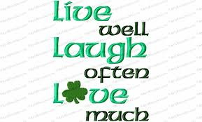 live laugh love with shamrock embroidery design kris rhoades
