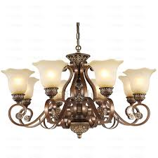 15 Light Chandelier Rustic 8 Light Resin And Wrought Iron Vintage Chandelier