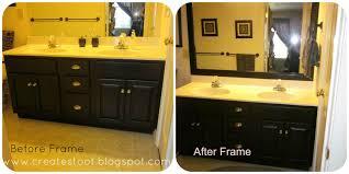 framing bathroom mirror framing mirror bath room mirror diy