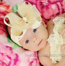 baby bow boutique buy sheer ivory bling infant baby bow headband online at