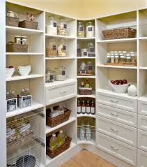 nice corner kitchen pantry organization idea with labeled mason