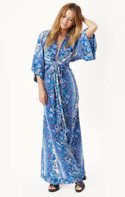 rosella kimono maxi dress planet blue