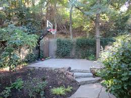 pro dunk silver basketball goal sits nicely in the back corner of