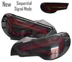 Red Led Light Bars by New Sequential Smoked Lens Red Light Bar Valenti Led Tail Lights