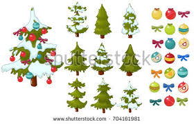 christmas tree vector set on white background download free
