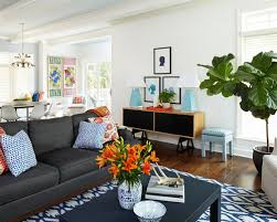 grey sofas with teal accents houzz
