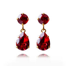 ruby drop earrings classic earrings ruby caroline svedbom jewelry me