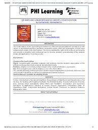 op amps and linear integrated circuits fourth edition by gayakwad