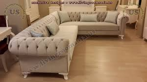Chesterfield Corner Sofas Beige Chesterfield Sofa Classic Style Corner Sofa Exclusive