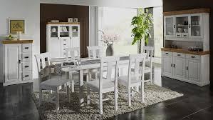 esszimmer weiß tischgruppe 7teilig esstisch 6 stühle kiefer massiv 2farbig