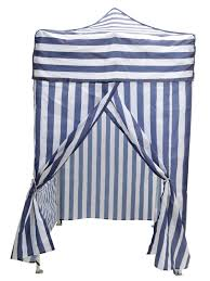 Striped Canopy by Portable Blue Stripe Tent Changing Room Camping Cabana Outdoor Pop