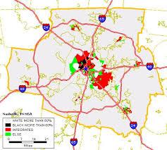 msa map black white housing patterns in nashville